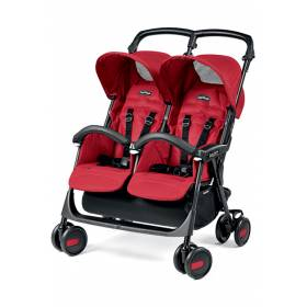 Коляска для двойни Aria Shopper Twin Peg-Perego Mod Red