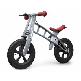 Беговел FirstBIKE Cross с тормозом Silver