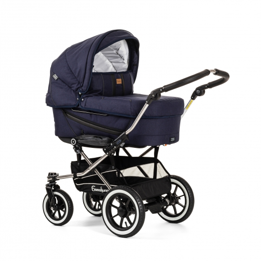 Коляска 2 в 1 Emmaljunga Edge Duo Combi (12708) Lounge Navy + шасси Duo S