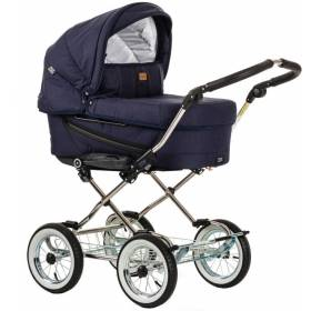 Коляска 2 в 1 Emmaljunga Edge Duo Combi (12708) Loung Navy  + шасси Classic Chrome
