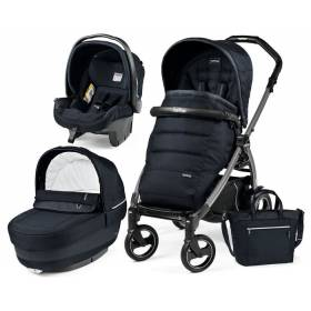 Коляска 3в1 Peg Perego Elite Luxe Bluenight на шасси Book 51 S Jet