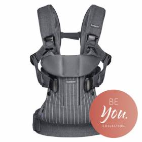 Рюкзак-кенгуру BabyBjorn One Pinstripe/Grey Cotton Mix арт. 0930.36