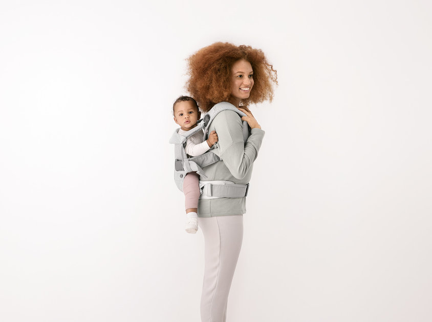 Рюкзак-кенгуру BabyBjorn One Air Frost Green/Mesh арт.0980.09