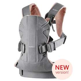 Рюкзак-кенгуру BabyBjorn One Grey,Powder Pink/Cotton Mix арт.0980.72