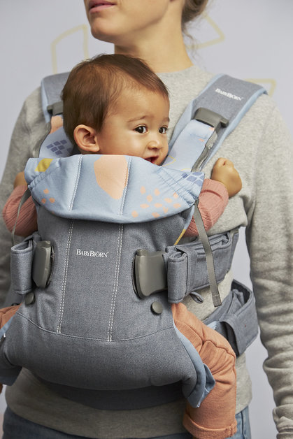 Рюкзак-кенгуру BabyBjorn One Dove Blue,Confetti /Cotton Mix арт.0980.74