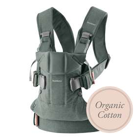 Рюкзак-кенгуру BabyBjorn One Greyish Green / Organic Cotton арт.0980.68
