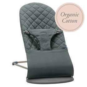 Кресло-шезлонг BabyBjorn Bliss Organic Cotton Greyish Green арт. 0060.68