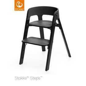 Стульчик Stokke Steps Oak Wood Chair Seat Black