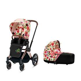Коляска 2 в 1 Cybex Priam Lux Spring Blossom Light