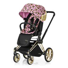 Прогулочная коляска Cybex Priam Lux by Jeremy Scott Cherubs Pink