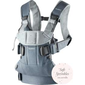 Рюкзак-кенгуру BabyBjorn One Cotton Mix  Light denim blue / Blue sprinkles арт. 0980.79