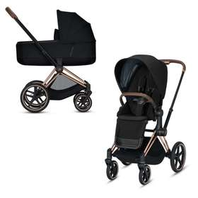 Коляска 2 в 1 Cybex Priam Lux Deep Black 2020