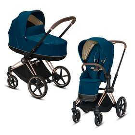 Коляска 2 в 1 Cybex Priam Lux Mountain Blue 2020