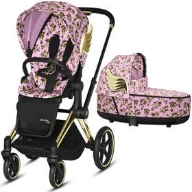 Коляска 2 в 1 Cybex Priam Lux by Jeremy Scott Cherubs Pink