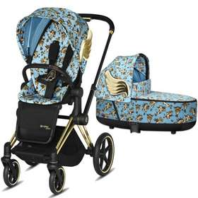 Коляска 2 в 1 Cybex Priam Lux by Jeremy Scott Cherubs Blue