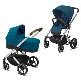 Коляска 2 в 1 Cybex Balios S Lux (Silver Frame) River Blue 2020