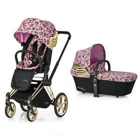 Коляска Cybex Priam Lux by Jeremy Scott + Carrycot Cherubs Pink