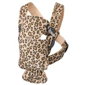 Рюкзак-кенгуру BabyBjorn Mini Cotton Beige/Leopard арт. 0210.75