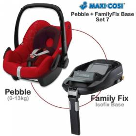 Автокресло Maxi-Cosi Pebble Intense Red  с базой Family Fix в комплекте