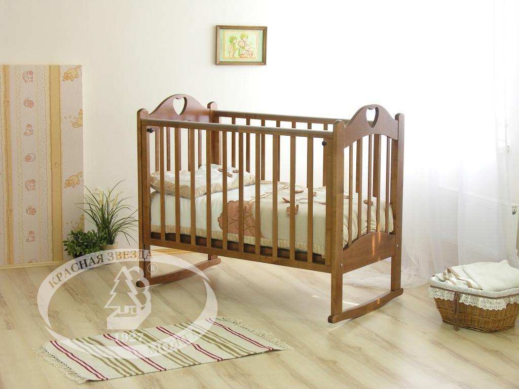 Коричневая кроватка для новорожденных